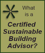 What is a Certified Sustainable Building Advisor?